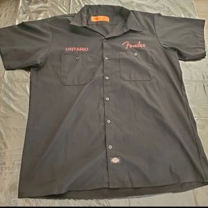RARE Fender Ontario NAMM Work Shirt